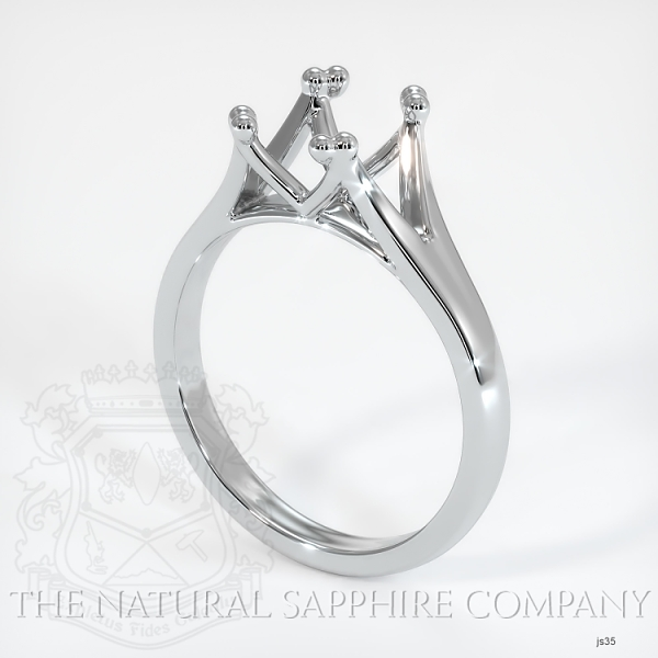 Split Prong Solitaire Ring Setting JS35 Image