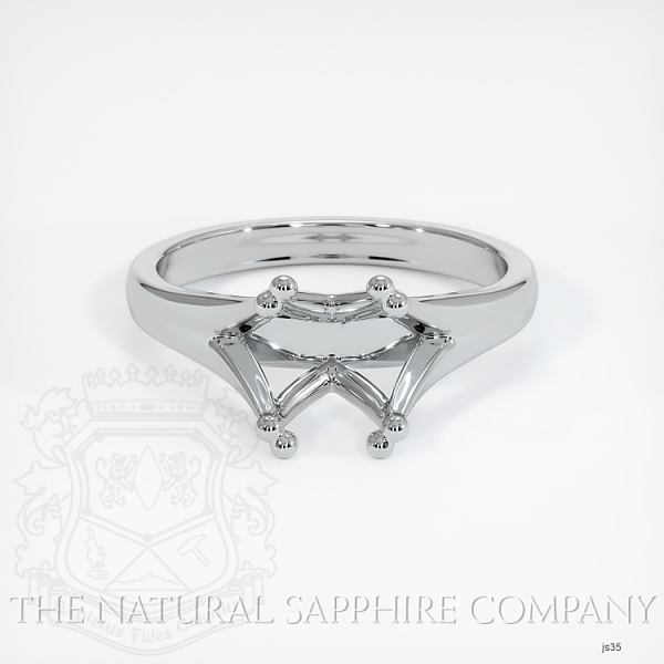 Split Prong Solitaire Ring Setting JS35 Image 2