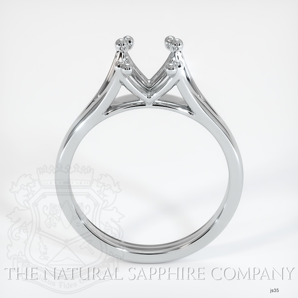 Split Prong Solitaire Ring Setting JS35 Image 4