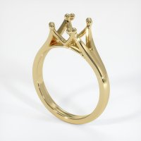 14K Yellow Gold Ring Setting - JS35Y14