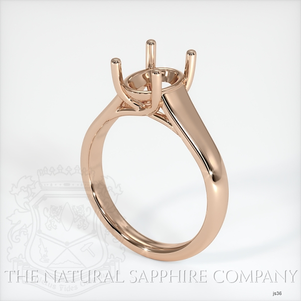 4 Prong Solitaire Trellis Setting - Wide Band JS36 Image
