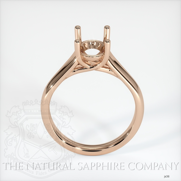 4 Prong Solitaire Trellis Setting - Wide Band JS36 Image 4
