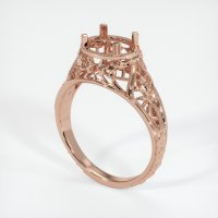 14K Rose Gold Ring Setting - JS37R14