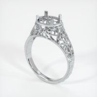 14K White Gold Ring Setting - JS37W14