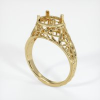 14K Yellow Gold Ring Setting - JS37Y14