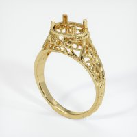 18K Yellow Gold Ring Setting - JS37Y18