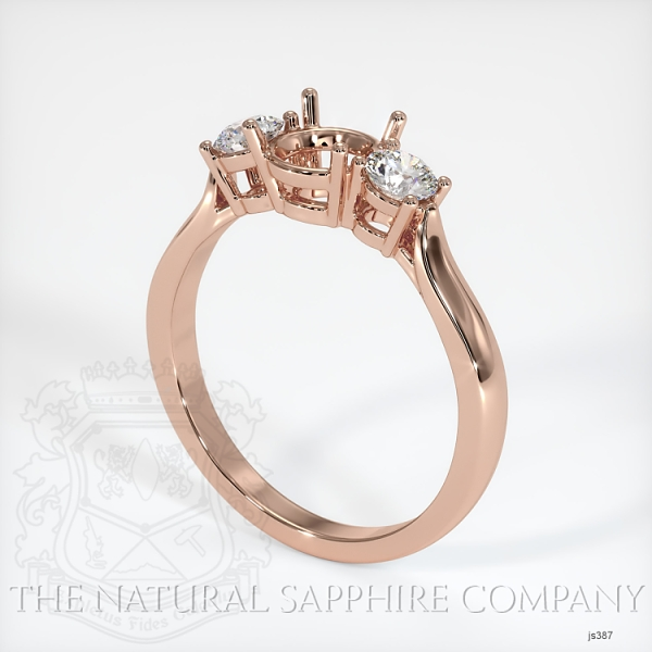 3 Stone Ring Setting - Round Diamonds JS387 Image