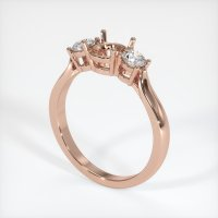 14K Rose Gold Ring Setting - JS387R14