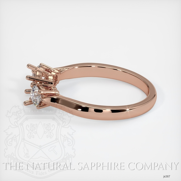 3 Stone Ring Setting - Round Diamonds JS387 Image 3