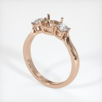 18K Rose Gold Ring Setting - JS387R18