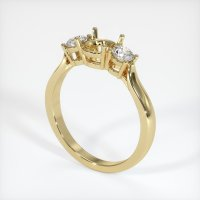 14K Yellow Gold Ring Setting - JS387Y14