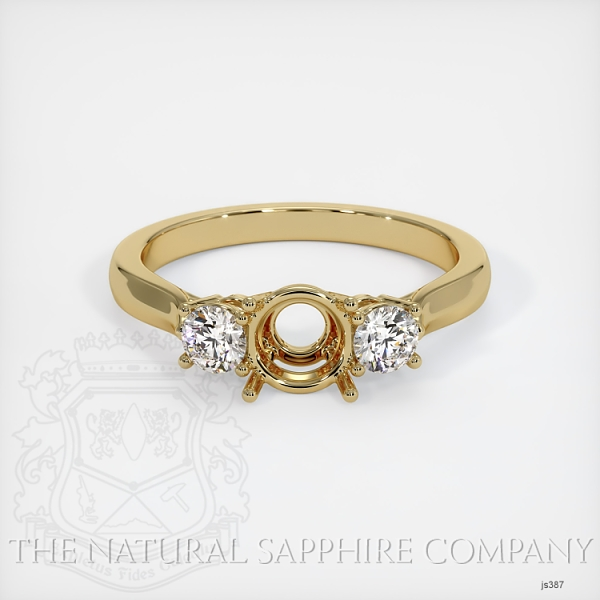 3 Stone Ring Setting - Round Diamonds JS387 Image 2