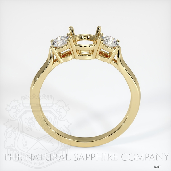 3 Stone Ring Setting - Round Diamonds JS387 Image 4