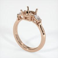 18K Rose Gold Ring Setting - JS388R18