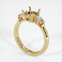14K Yellow Gold Ring Setting - JS388Y14