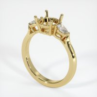 18K Yellow Gold Ring Setting - JS388Y18