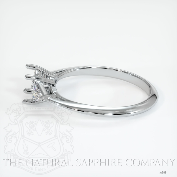 4 Prong Three Stone Ring - Trillion Diamonds JS389 Image 3