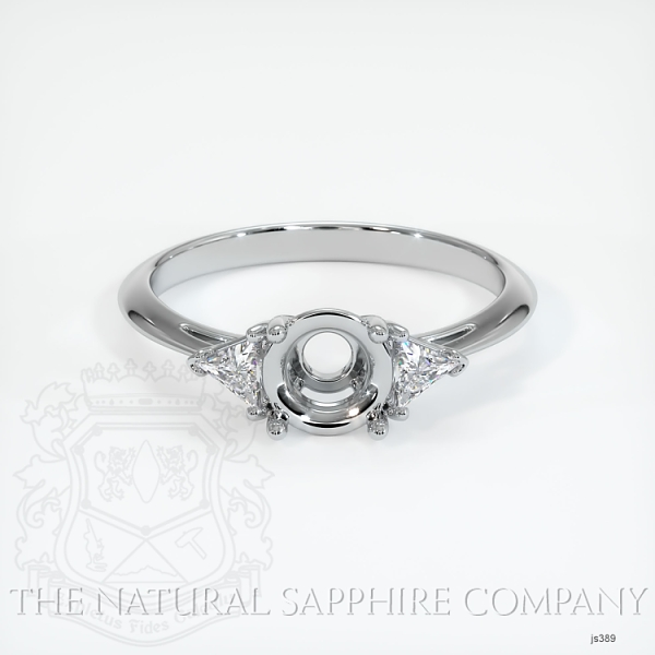 4 Prong Three Stone Ring - Trillion Diamonds JS389 Image 2