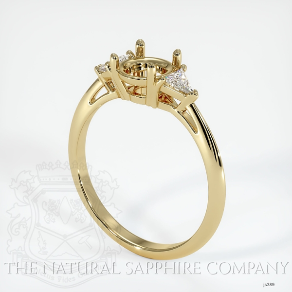 4 Prong Three Stone Ring - Trillion Diamonds JS389 Image