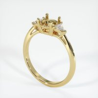 18K Yellow Gold Ring Setting - JS389Y18