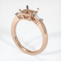 18K Rose Gold Ring Setting - JS390R18