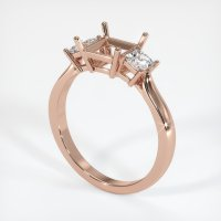 14K Rose Gold Ring Setting - JS395R14