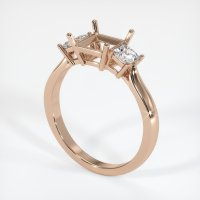 18K Rose Gold Ring Setting - JS395R18