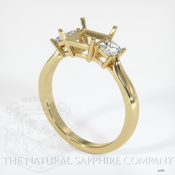 3 Stone Ring Setting - Princess Cut Diamonds JS395 Image