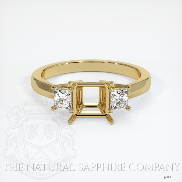 3 Stone Ring Setting - Princess Cut Diamonds JS395 Image 2