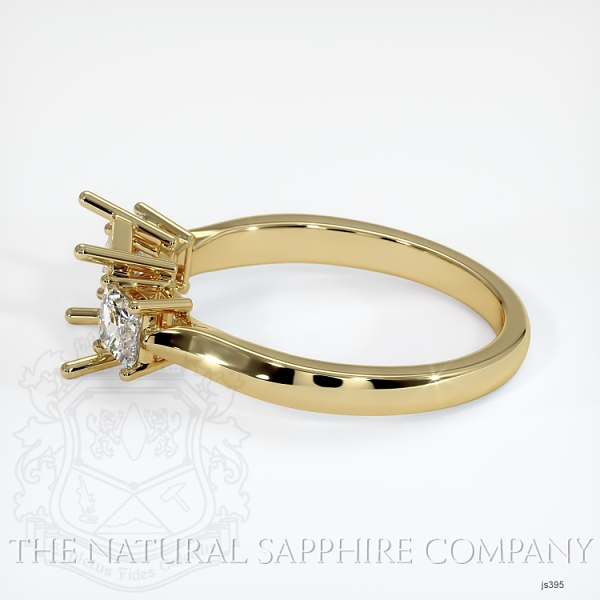 3 Stone Ring Setting - Princess Cut Diamonds JS395 Image 3