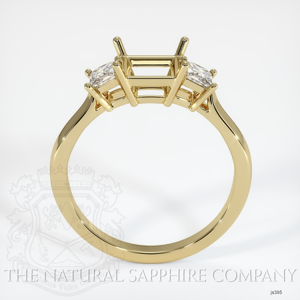 3 Stone Ring Setting - Princess Cut Diamonds JS395 Image 4