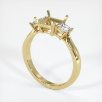 18K Yellow Gold Ring Setting - JS395Y18