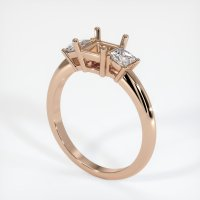 18K Rose Gold Ring Setting - JS396R18