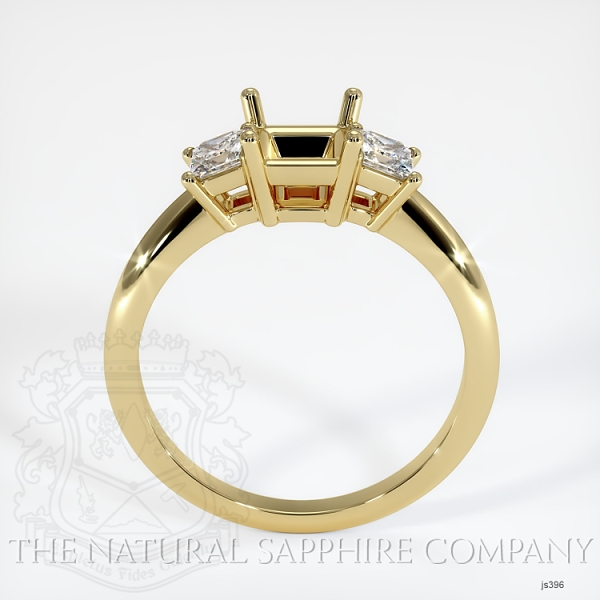 3 Stone Ring Setting - Princess Cut Diamonds JS396 Image 4