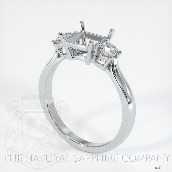 Three Stone Ring Setting - Round Diamonds JS397 Image