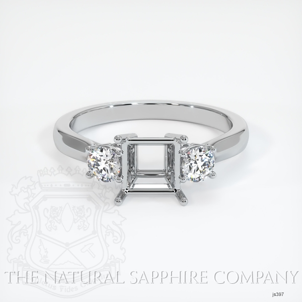 Three Stone Ring Setting - Round Diamonds JS397 Image 2