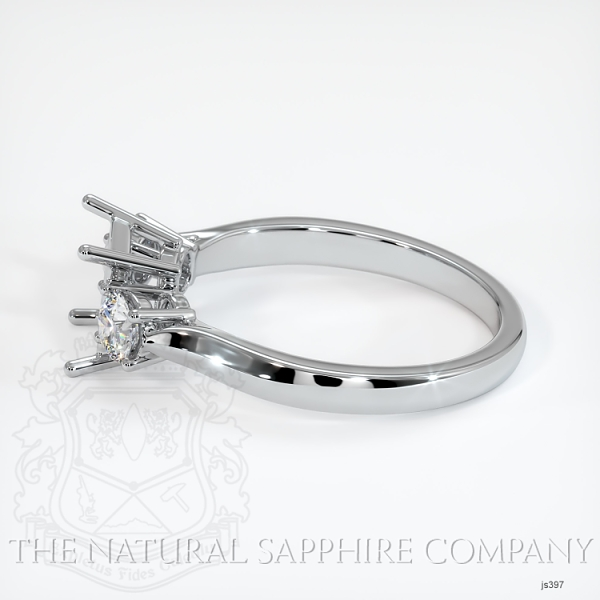 Three Stone Ring Setting - Round Diamonds JS397 Image 3