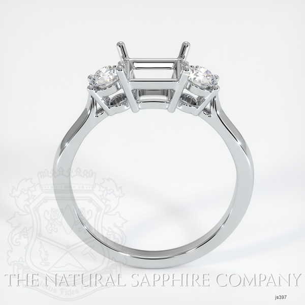 Three Stone Ring Setting - Round Diamonds JS397 Image 4