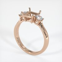 18K Rose Gold Ring Setting - JS397R18