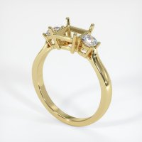 18K Yellow Gold Ring Setting - JS397Y18