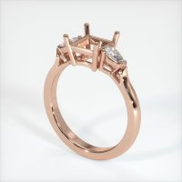 14K Rose Gold Ring Setting - JS398R14