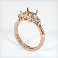 18K Rose Gold Ring Setting - JS398R18