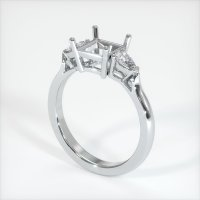 14K White Gold Ring Setting - JS398W14