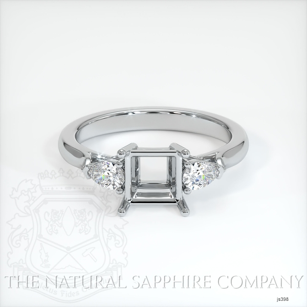 Three Stone Ring - Pear Shape Diamonds JS398 Image 2