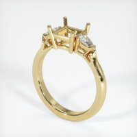 14K Yellow Gold Ring Setting - JS398Y14