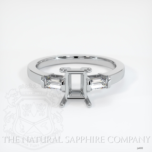 3 Stone Ring Setting - Straight Baguette Diamonds JS400 Image 2
