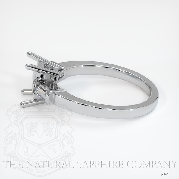 3 Stone Ring Setting - Straight Baguette Diamonds JS400 Image 3