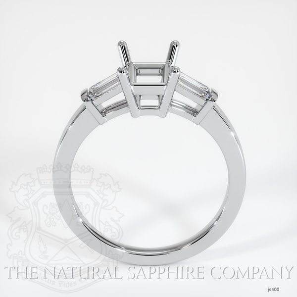 3 Stone Ring Setting - Straight Baguette Diamonds JS400 Image 4