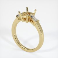 14K Yellow Gold Ring Setting - JS400Y14