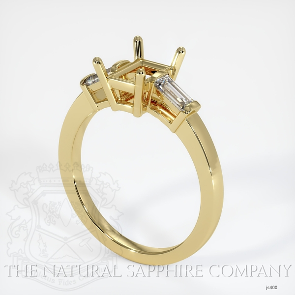 3 Stone Ring Setting - Straight Baguette Diamonds JS400 Image